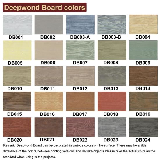China Fiber Cement Siding External Wall Board With Various
