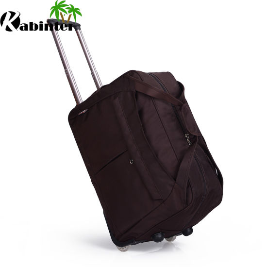 7953cf9752 China Coffee Color Duffle Bag Traveling Bag Unisex Use Trolley Bag ...