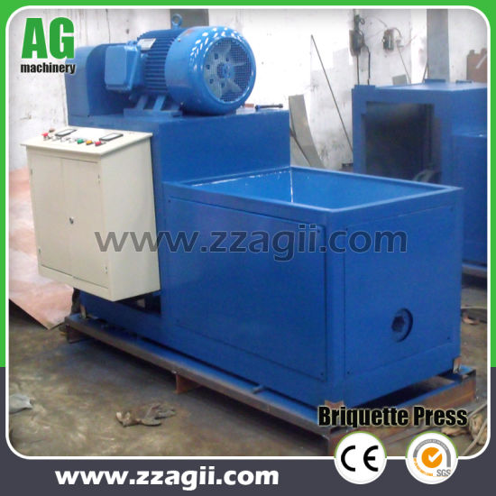 Homemade Small Briquette Machine From Wood Sawdust Rice Husk Wheat Straw