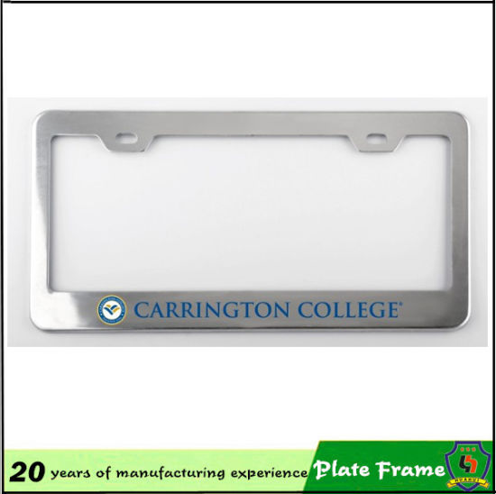 Custom Logo Printed Aluminum Metal License Plate Frame pictures & photos