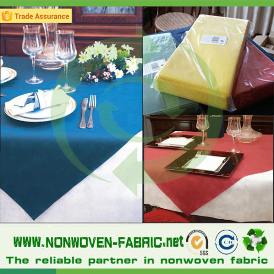Spunbonded PP Non Woven Fabric for Disposable Table Cloth pictures & photos