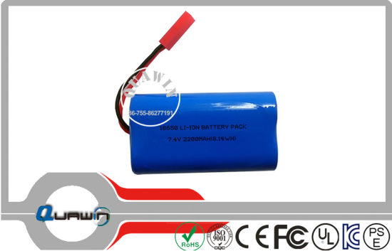 Rechargeable 18650 Li-ion/Lithium/Lithium Ion Battery Pack 2s1p 7.4V Battery 2200mAh pictures & photos