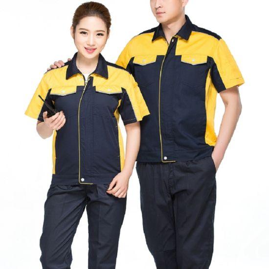 36396ed88025 Customize Workwear Cotton Construction Worker Suits Short Sleeve Engineer  Working Uniform (1)