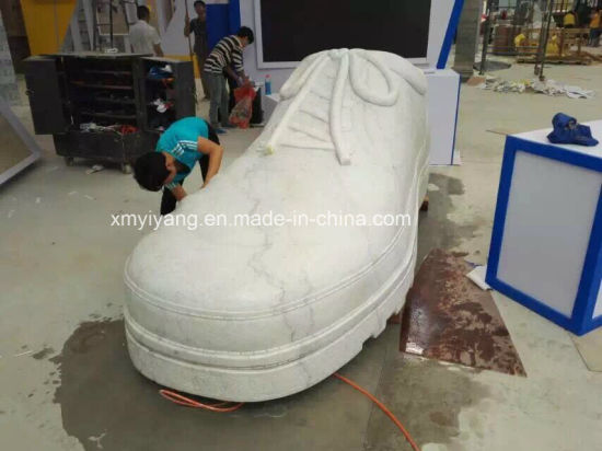 castle white marble stone sculpture for plaza decoration