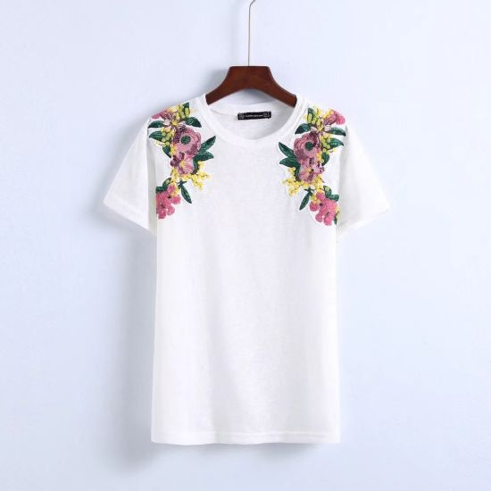 Young Ladies Casual Bamboo Cotton T-Shirt Design