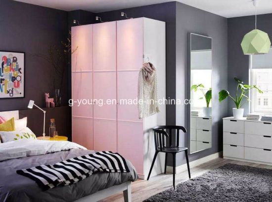 Small Size Customized Home Hotel Bedroom Furniture Wood Wardrobe Closet