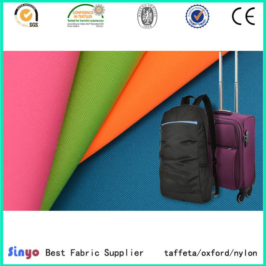 Bag Luggage and Tent Raw Materials 420d Polyester Oxford Fabric with PVC Coated pictures & photos