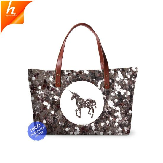 China Newest Pictures Lady Fashion Handbag Polyester Beach Bags ... 62d441226c750