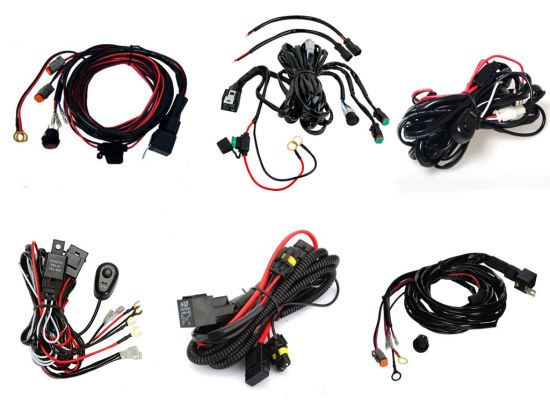 china universal led work light driving lamp car kit wiring harness rh starconnect en made in china com
