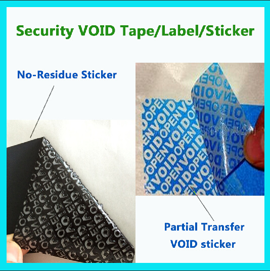 High Quality Anti-Fake Security Void Material; No-Residue Sticker; Packing Label