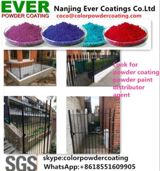 Black Ral9005 Matt Polyester Weather Resistant Powder Coating for Gate pictures & photos