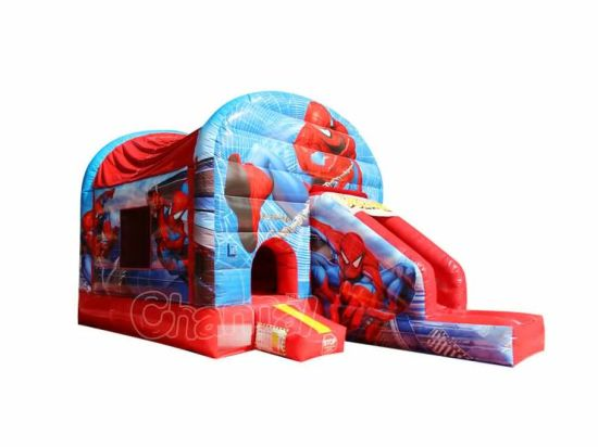 Spiderman Inflatable Bounce House with Slide Chb596