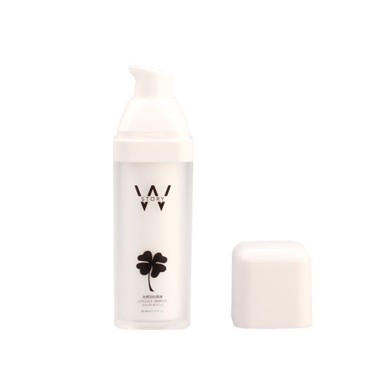 Acrylic Airless Pump Bottle 15ml, 50ml Matte Frosted Finish Plastic Cosmetic Packaging Bottle pictures & photos