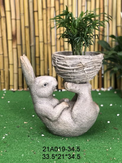 Statue Best Sellers Craft Factory Wholesale Resin Polyresin Sculpture Family Figurines Sculptures Flower Pot & Planter