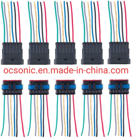 6 Pin Way 18 AWG Waterproof Wire Connectors Plug 1.5mm Series Terminal Connector