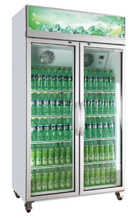 Commercial Vertical Glass Door Refrigerator Beverage Showcase Display Refrigerator