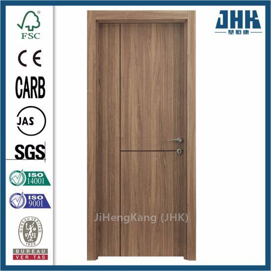 Modern Grooved Laminated Veneer Interior Pine Flush Wood Door