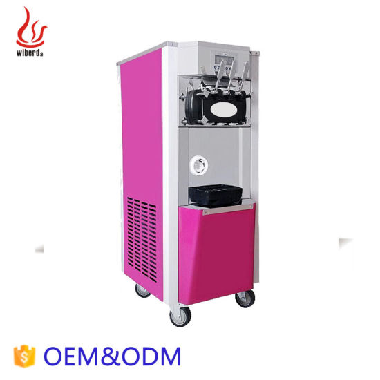 Commercial Pre-Cooing 3 Flavor Soft Serve Ice Cream Machine Manufacturers