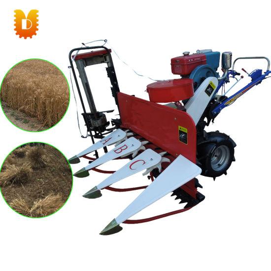 Hot Sale Mini Wheat and Rice Reaper Binder Cutting Grass Cutter Machine