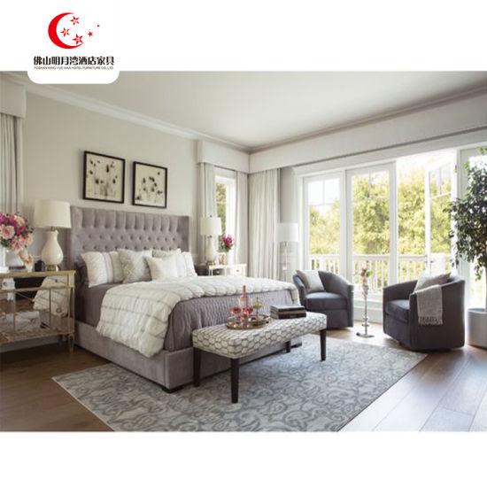 5 Star Hotel Bed Room Furniture Bed Wooden Design Furniture