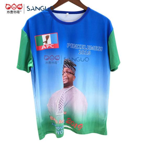 Cheap Mens Plain President Logo T-Shirt Supply Election Campaign Advertising 3D