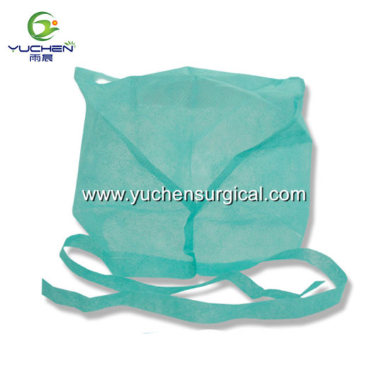High Quality Disposable Surgical Nonwoven Doctor Cap with Tie on
