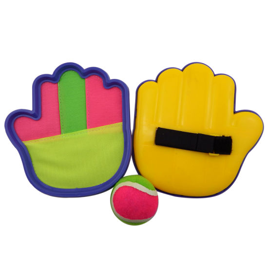 Wholesale Custom Eco-Friendly Fun Sport Kids Plastic Ball Catch Set