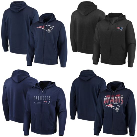 Patriots Hyper Stack Cap Primary Logo Perfect Season Full-Zip Hoodies