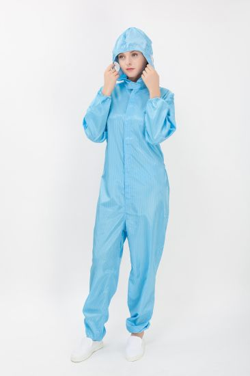 2017 Cleanroom ESD Jumpsuit Garment Antistatic Clothes Coverall