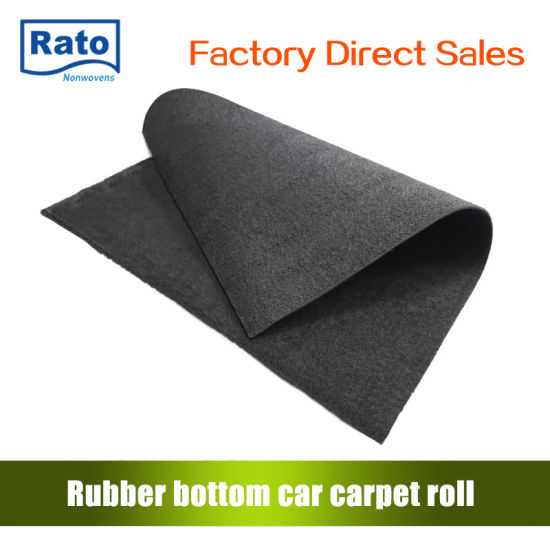 Low Price Plain Floor Carpet with Rubber Backing for Car pictures & photos