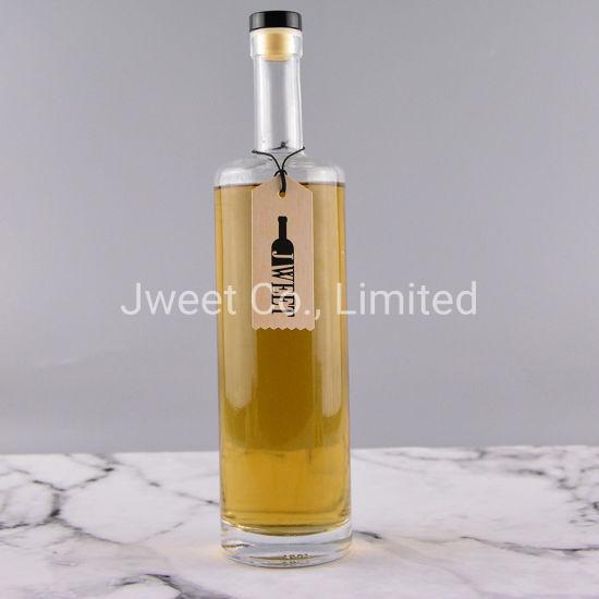 750ml Round Shape Empty Wine Tequila Glass Bottle