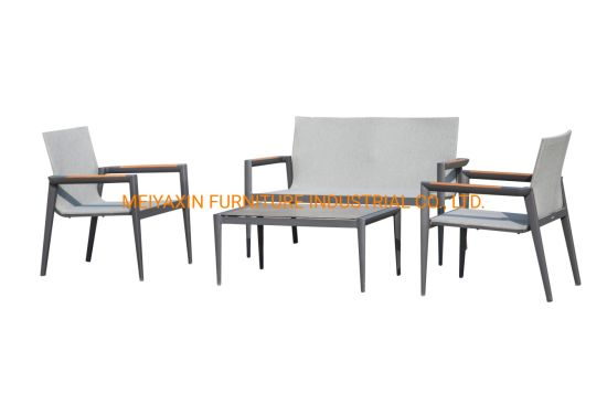 Hotel Garden Outdoor Dining Aluminum Tables Chairs Sofa Set Furniture