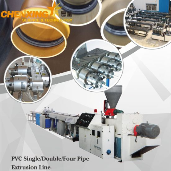 Automatic Water Supply Drainage Plastic PVC Pipe Extrusion Production Line