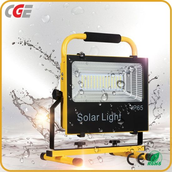 Red and Blue Flash Sport Rechargeable IP65 100W Integrated All in One Solar LED Flood Lamp