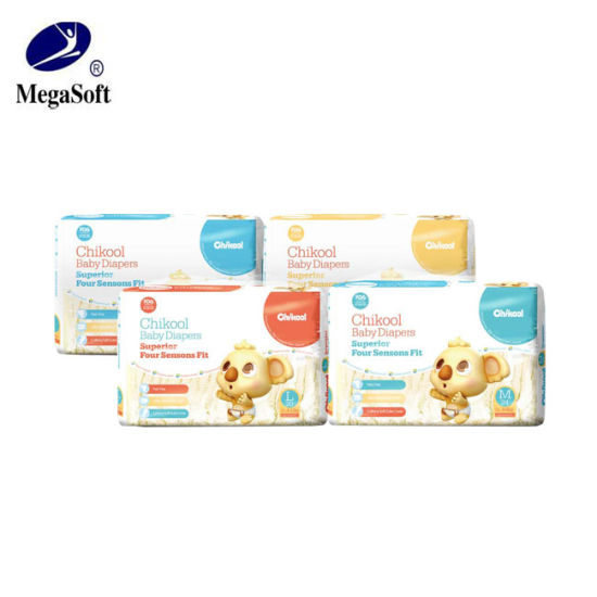 Disposable Soft Factory Good Quality Baby Diapers with Elastic Waistband