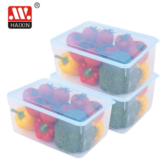 Plastic Freezer Preserving Box Food Container for Kitchen Food Storage