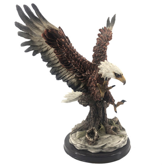 Wholesale BSCI Factory Handmade Customized Polyresin Statue Wild Bird Figurine, New Arrive Resin Eagle Sculpture