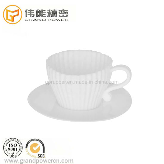 OEM Handmade 100% Food Grade Rubber Bakeware Mold 4 Teacup Silicone Cake Molds