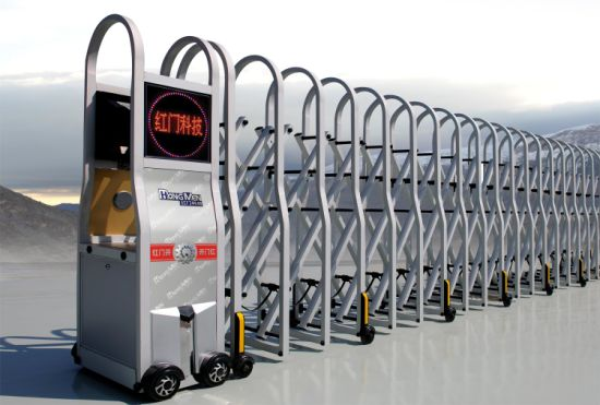 Crowd Control Barrier with Remote Control for Queue Management System