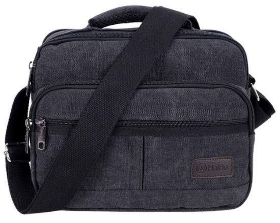 Canvas Men's Bag Vertical Case Single Shoulder Bag Cross Bag