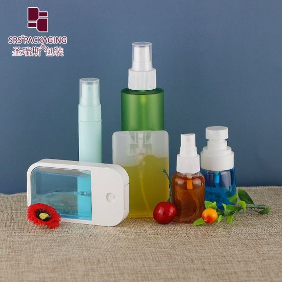 PCR Eco-Friendly Pet Travel Recycled Cosmetic Fine Mist Spray Clear Essential Oil Plastic Perfume 15ml 30ml 50ml Airless/Lotion/Aluminum Sprayer Pump Bottle