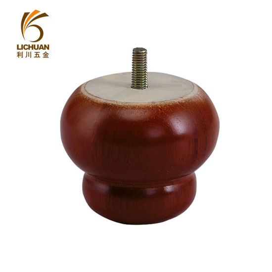 High Quality Round Leather Wooden Legs