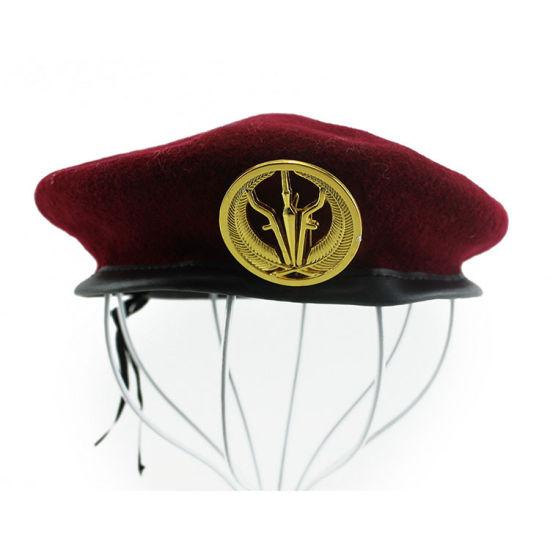 bdb320ff China High Quality Army 100% Wool Men′s Custom Military Beret ...