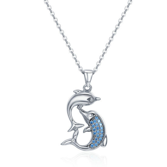 1x 925 Sterling Silver Dolphin Pendant for Necklace in Gift Bag
