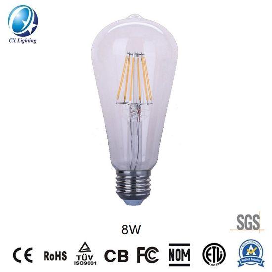 LED Lamps Filament Bulb Clear St64 E27 220-240V Decoration for Restaurant Popularly