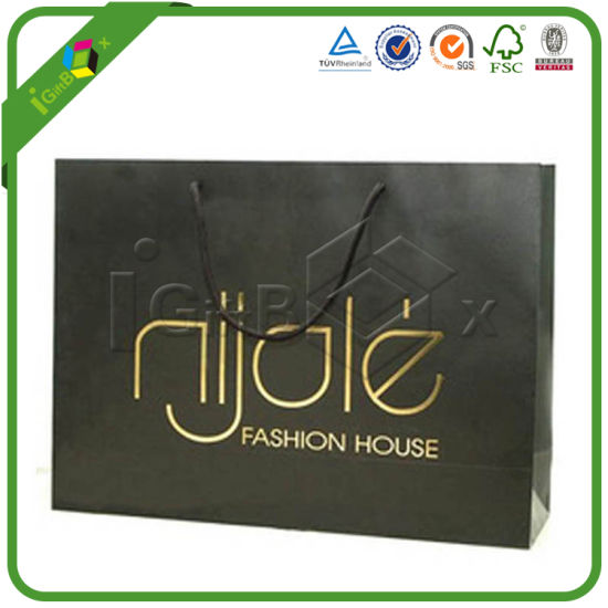 Custom Design Printed Paper Recycle Bag with Company Logo pictures & photos
