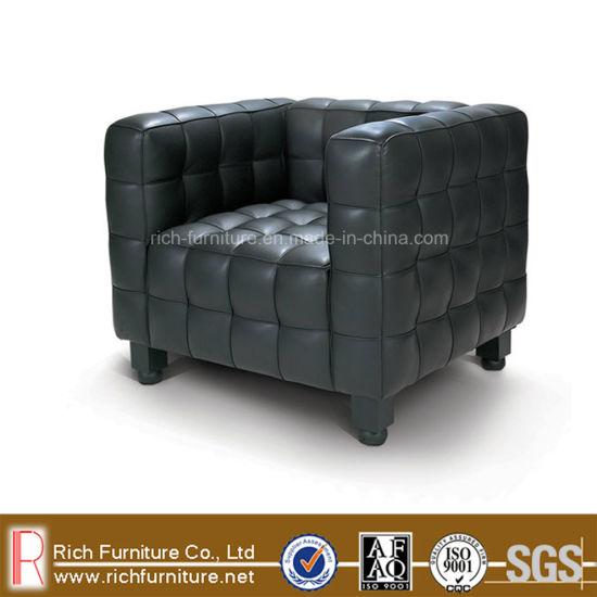 Classic Kubus Leather Sofa for Living Room (Designer Sofa)