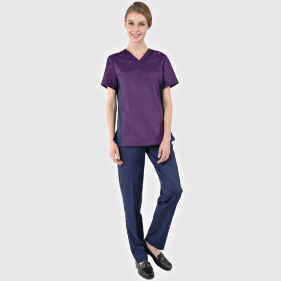 f1b315f2598 95% Polyester /5% Spandex Fashion Scrub Suit Design/Medical Nursing Scrubs /