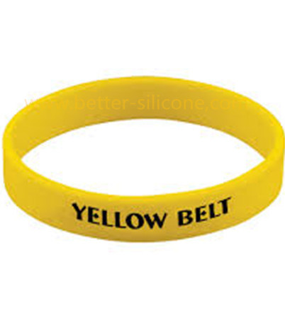 Debossed Color Filled Silicone Wristband pictures & photos