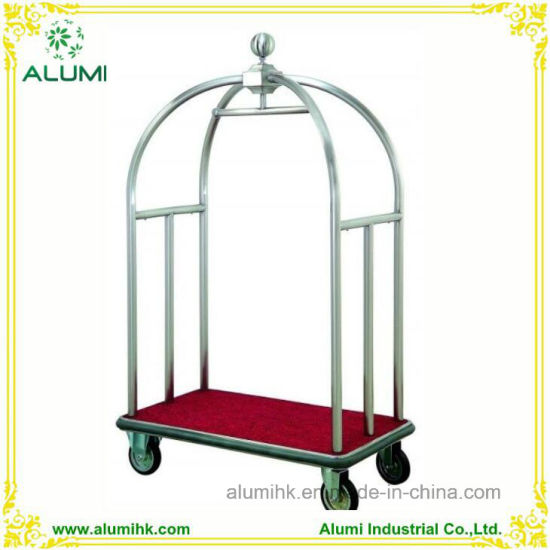 Hotel Stainless Steel Bellman Luggage Cart